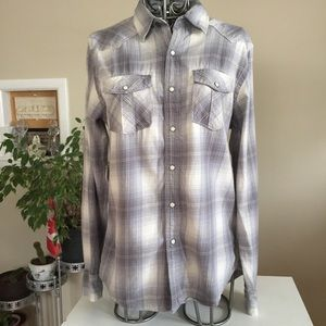 American Eagle Outfitters Gray plaid shirt